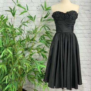 Unique Vintage Black Vintage Strapless Dress